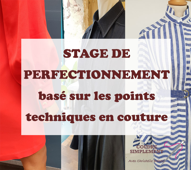 Stage de perfectionnement de couture